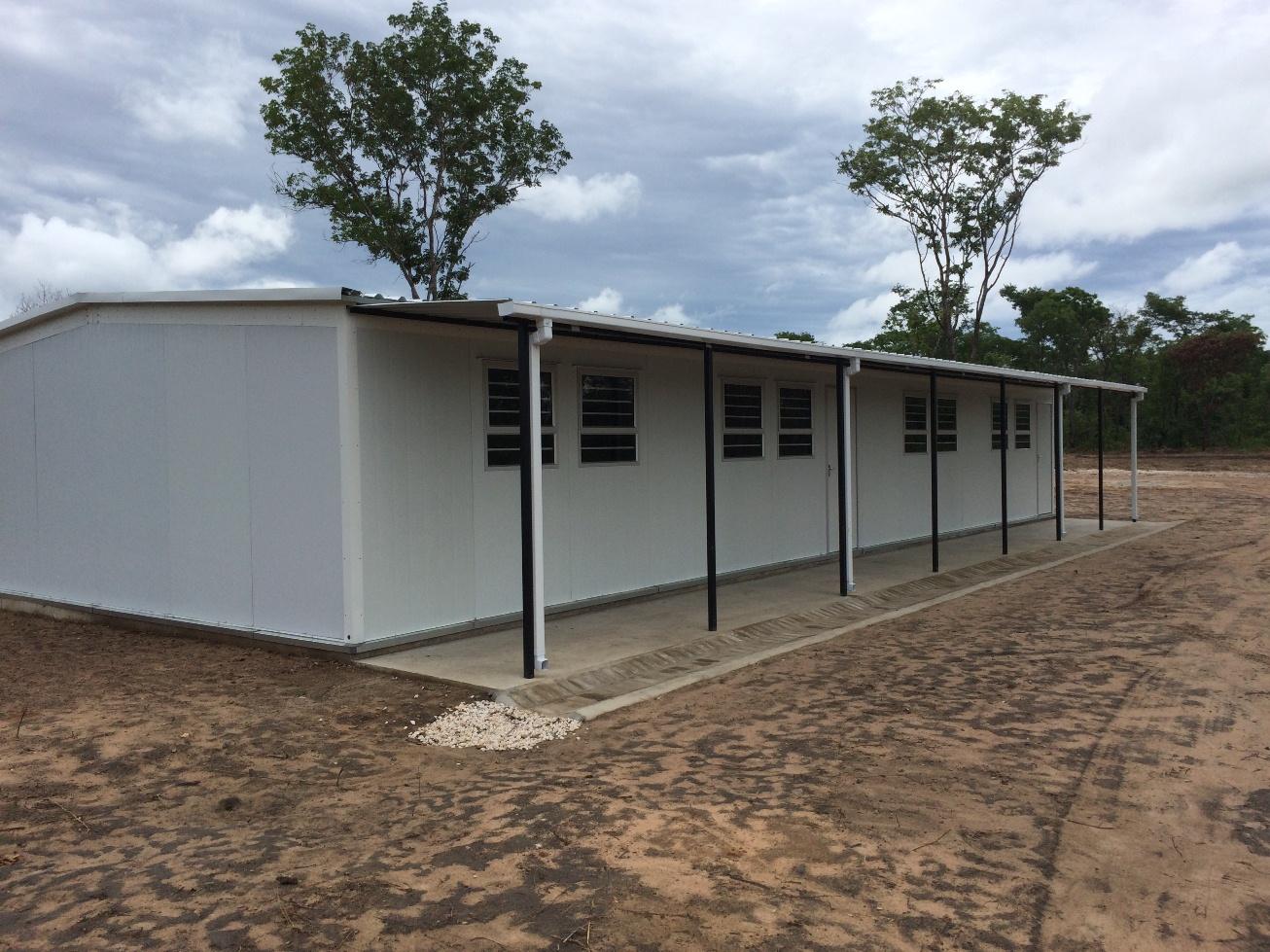 Prefab School 2 – JTI Rosewood – Kaoma- April 2015